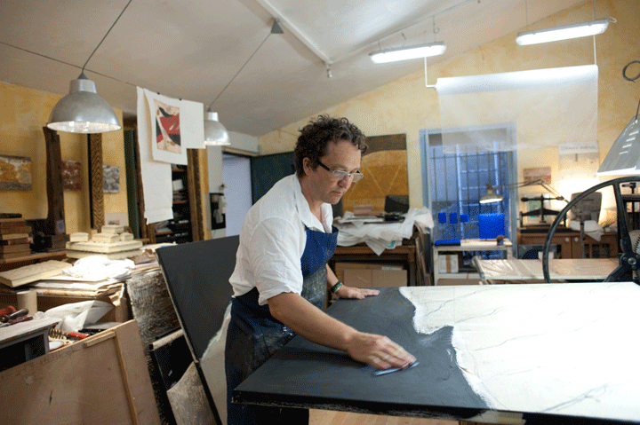 René Galassi au travail