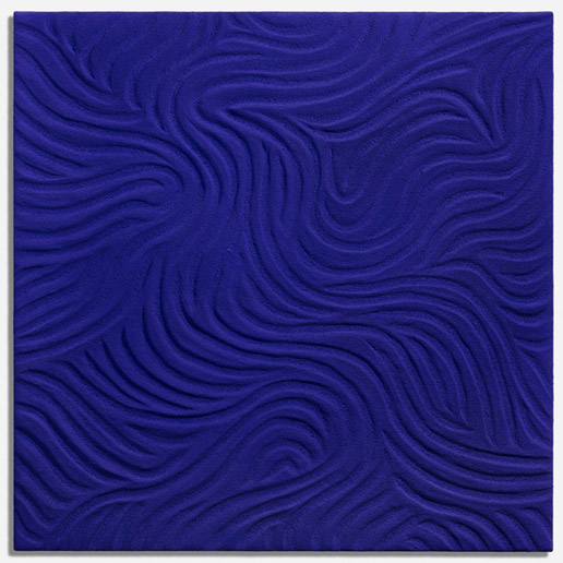 Tableau pigment bleu